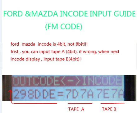 Ford / mazda incode outcode calculator for android free to try.