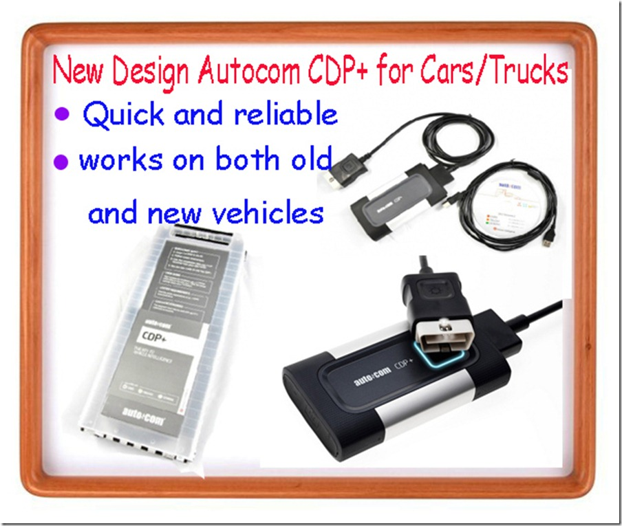 Autocom CDP+ for Cars/Trucks and OBD2 2013 R1 Version New Design 18 Languages Activate Online