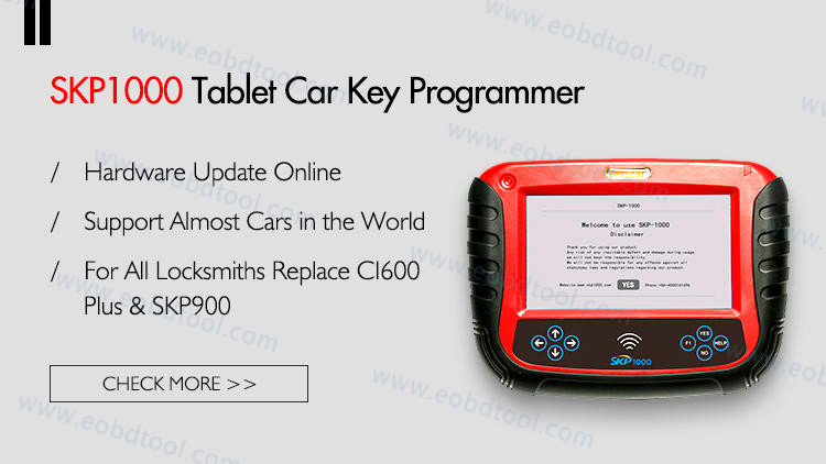 SKP1000 How to Update SKP1000 Tablet Auto Key Programmer?