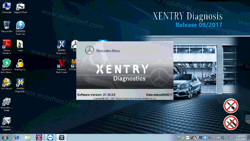 XENTRY MERCEDES DIAGNOSTIC SOFTWARE 2017 2 How to Solved No connection to the SDconnect can be established (749)