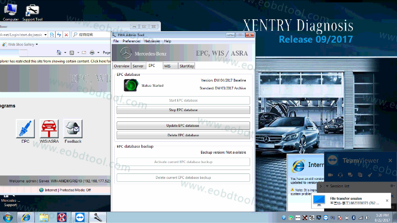 XENTRY MERCEDES DIAGNOSTIC SOFTWARE 2017 6 XENTRY DIAGNOSIS OPEN SHELL 2017.09 UPDATED