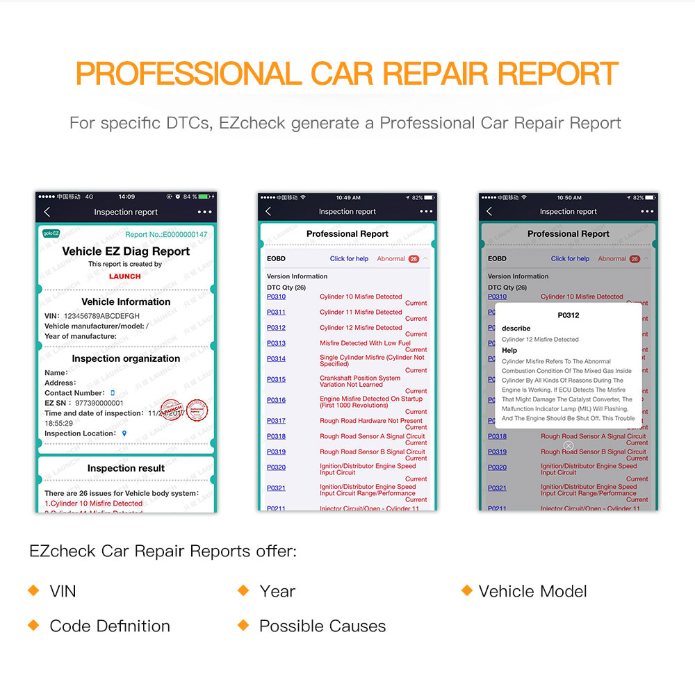 Launch EZcheck Launch Ezcheck OBDII EOBD scanner User Guide