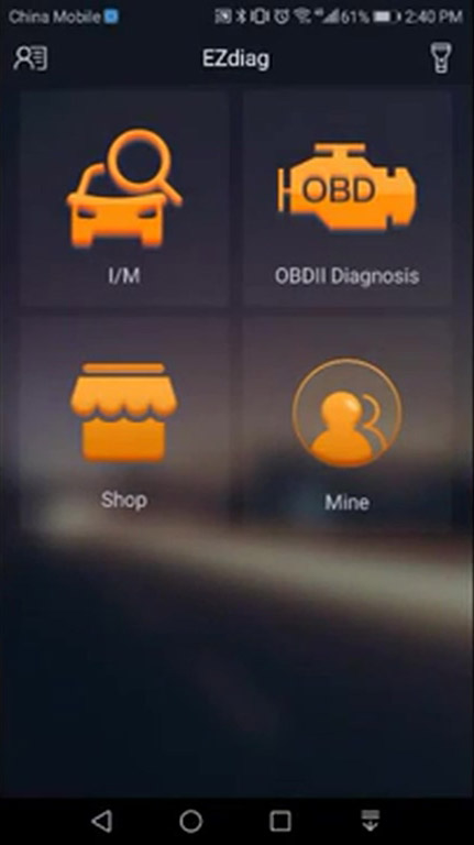Launch Ezcheck menu Launch Ezcheck OBDII EOBD scanner User Guide