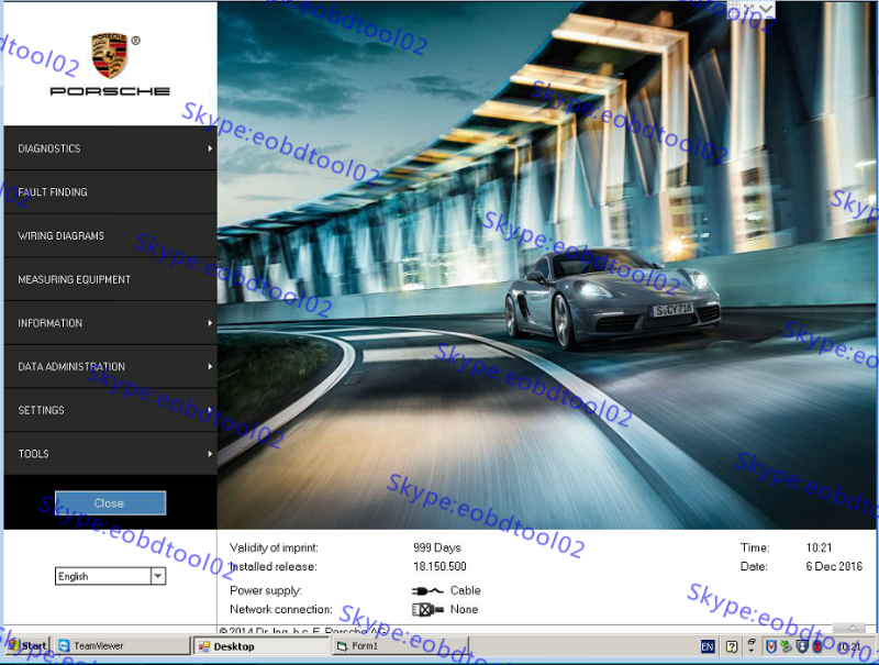 Piwis 2 software V18 i0h Piwis 2 Porsche Diagnostic Software Piwis 2 V18.150.500 Updated