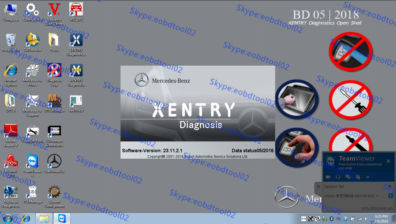 05.2018 Xentry software version MB Star Diagnostic Xentry Software 05/2018 Version Released