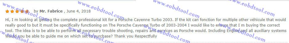 Piwis2 for 2003 2004 Porsche diagnostics 1 Does Porsche Piwis Tester II Piwis 2 Support Porsche Cayenne Turbo 2003?