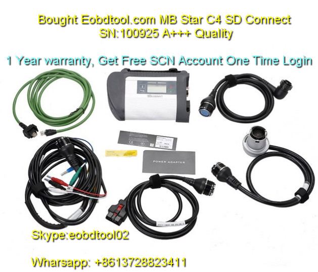 SD C4 with one time login Star Diagnostic SD Connect Compact 4 MB SD C4 Multiplexer High Recommend