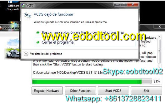 VCDS 17.8.1 can not running solution vcds 17.8 dejó de funcionar la solución Eobdtool.com