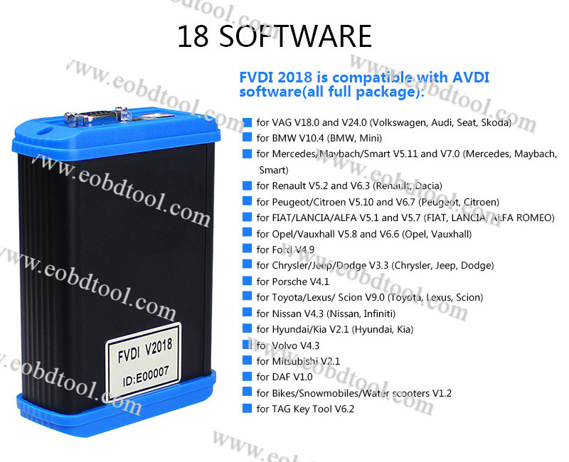 fvdi 2018 software list FVDI unlock version FVDI 2018 ABRITES Commander FVDI Full 2018 Unlock Version Released