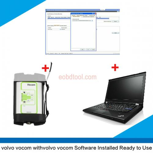 Volvo vocom with Ptt 2.5.87 installed on Lenovo T420 laptop ready to use Volvo Vocom 88890300 Interface with PTT 2.5.87 installed on Lenovo T420 Full Set