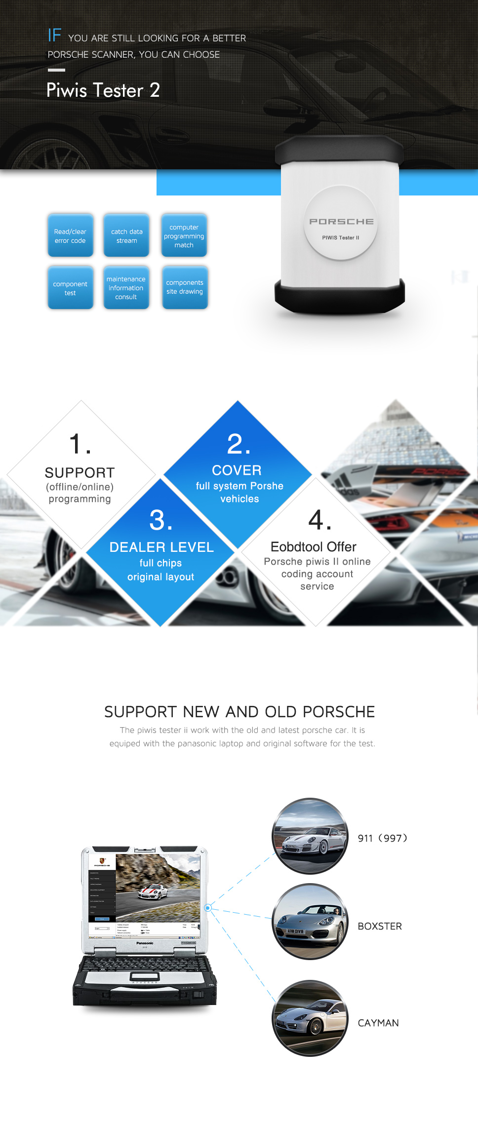 Porsche piwis tester ii V17.500 piwis ii piwis tester ii
