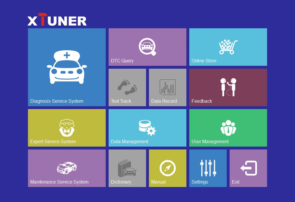Xtuner E3 wifi software main screen