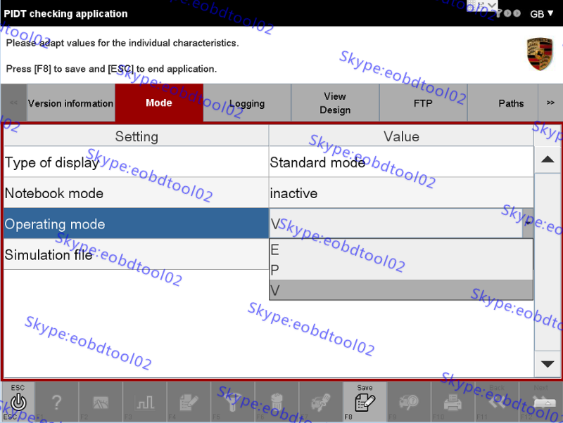 Piwis 2 developer mode Piwis 2 engineering software