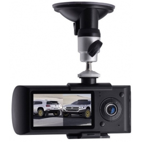 Supplier X3000 2012 New Design Dual Lens Car DVR Car Camera with GPS and 3D G-Sensor !