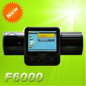 Supplier F6000 Car DVR Recorder Video Full HD 1080P 5.0 mega pixel 132 degree wideangle lens + 270 degree rotation