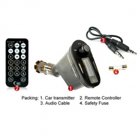 Supplier Car Kit MP3 Player Wireless FM Transmitter Modulator USB SD MMC LCD With Remote