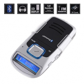 Supplier Solar Powered Bluetooth Car Kit Handsfree FM+MP3 Player