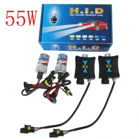 Supplier 55W 12V Super HID Xenon Slim Ballast Kit H8 12000K