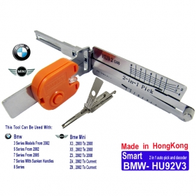 Supplier Smart BMW HU92V3 2 in 1 Auto Pick and Decoder with Light