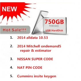 Supplier 2014 Alldata 10.53 with 575GB+2014 Mitchell on demand 125GB with 750GB USB HardDisk