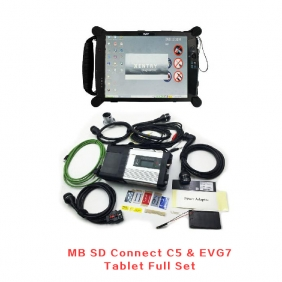 Supplier MB sd connect c5 For Mercedes Benz Wifi Star Diagnosis C5 With EVG7 Tablet Installed On Software V2017.05 Full Set Ready To Use