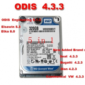 Supplier ODIS 5.1.5, Elsawin 6, ETKA 8 Software Installed in 1 HDD For VAS 5054A