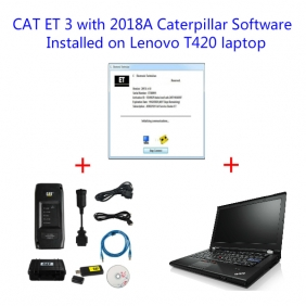 Supplier Cat ET 3 Wifi Cat ET Adapter 3 with Caterpillar Diagnosis 2018A Software Installed on Lenovo T420 Laptop Ready to Use
