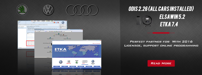 ODIS 2.2.6, Elsawin 5.2, VW Audi etka parts catalogue V7.4 3 in 1 software HDD